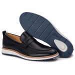Loafer Elite Couro Premium Preto 9001