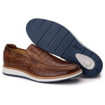 Loafer Elite Couro Premium Croco Castor 9002