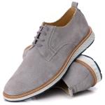 9004 Loafer Elite Couro Premium Camurça Cinza