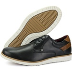 Oxford Masculino 602 Comfort/nobuck Preto/castor Veneza