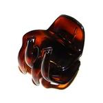 Prendedor Pequeno 4,0x3,5cm Tartaruga de Acetato Musa Kalliopi
