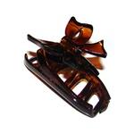 Prendedor Grande 9,0x4,0cm Tartaruga de Acetato Musa Kalliopi