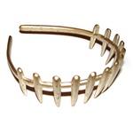 Tiara dentes 3,0cm Lg Prata E Dourada De Acetato Musa Kalliopi