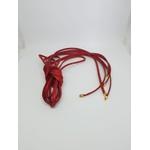 Acessório top de couro (colar/pulseira) dois em um