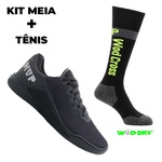 Kit Tênis MVP para Crossfit - Black + Meia Wod Dry Preta