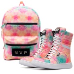 KIT Mochila Club Fashion + Tênis MVP Boot Training - Pink Smoke