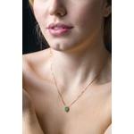 Colar de Esmeralda oval com Diamantes