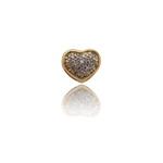 Pingente Coração Pequeno Com Diamante