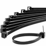 Abraçadeira de Nylon Resistente ao Sol (UV) 283 X 4,8 mm Preta Frontec - F7028UVPR100