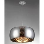 Pendente & Plafon de aço e vidro 40cm Cristal/Transparente