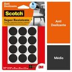Protetor Antideslizante Scotch Redondo Preto Médio 12 Unidades - HB004262877 - 3M