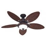 Ventilador de Teto Hunter Caribbean Breeze Bronze Antigo Vime Escuro