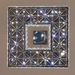 Pendente Quadrado Cristal Led 45CM 21W BIV C/ Controle 3000K/4000K/6000K