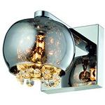 Arandela de Cristais e Vidro Cromado Quality QAR1281-CR
