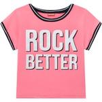 Blusa Cropped Amora Infantil Feminina 12 ao 20 Rosa Neon