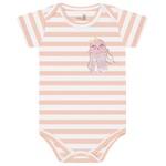 Body Kiko Baby Bebê Feminino RN ao G - Rosa Listrado