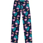 Calça Legging Kyly Infantil Feminina Estampada Flamingo Tamanho 4 ao 8