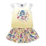 Conjunto Kiko e Kika Bebê Feminino 1-2-3 Amarelo - Sereia