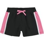 Conjunto Kyly Infantil Feminino 10 ao 18 Preto com Rosa Neon