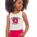 Conjunto Dila Feminino Infantil Bege com Pink Tamanho 12 ao 16
