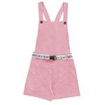 Macacão Fakini Infantil Feminino 12-14-16 Rosa Neon