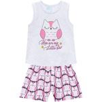 Pijama Kyly Bebê Feminino Estampa Coruja Brilha no Escuro