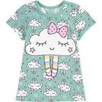 Pijama Kyly Infantil Feminino Nuvem 4 ao 12
