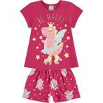Pijama Kyly Bebê Feminino Unicórnio 1-2-3
