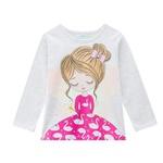 Pijama Manga Longa Kyly Infantil Feminino Tamanho 4-6-8