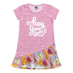 Vestido Kiko e Kika Infantil Feminino 4 ao 10 - Rosa Poá