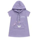 Vestido Fakini Bebê Feminino 1-2-3 Lilás