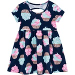 Vestido Kyly Bebê Feminino Estampa Cupcakes