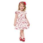 Vestido Milon Infantil Feminino Estampado