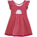 Vestido Milon Bebê Feminino Vermelho Tamanho P ao G