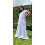 Vestido Karina Duzzi Infantil Longo Branco em Laise de Malha