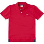 Camiseta Milon Gola Polo Bebê Vermelha