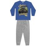 Conjunto Moletom Fakini Infantil Masculino Azul Tamanho 4-6-8
