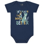 Body Kiko Baby Bebê Masculino RN ao G - Azul