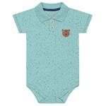 Body Gola Polo Kiko Baby Bebê Masculino RN ao G - Verde Claro
