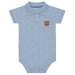 Body Gola Polo Kiko Baby Bebê Masculino RN ao G - Azul Claro