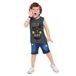 Regata Kyly Infantil Masculina Skate com Detalhe Neon
