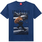 Camiseta Kyly Infantil Masculina Azul
