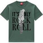 Camiseta Kyly Masculina Infantil Rock Roll