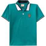 Camiseta Milon Gola Polo Infantil Verde