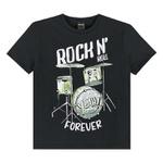 Camiseta Lemon Infantil Masculina 4-6-8 Preta Rock