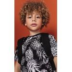 Camiseta Lemon Infantil Masculina 4-6-8 Preta Abacaxi
