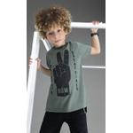 Camiseta Lemon infantil Masculina 10-12-14 Verde Militar