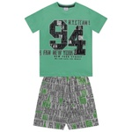 Conjunto Fakini Infantil Masculino 12-14-16 Verde