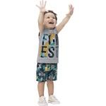 Conjunto Kyly Infantil Masculino 4-6-8 Cinza Girafa