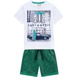 Conjunto Milon Bebê Masculino Camiseta Estampada + Short Moletom